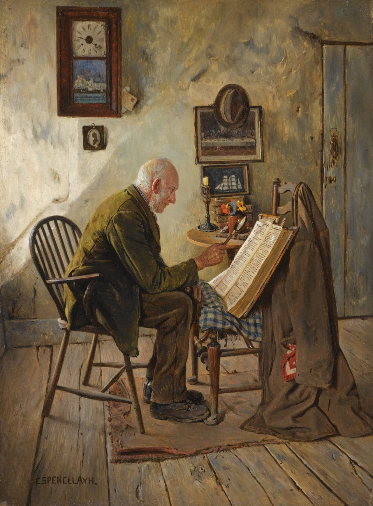 Charles spencelayh 18651958 the morning chapter oil