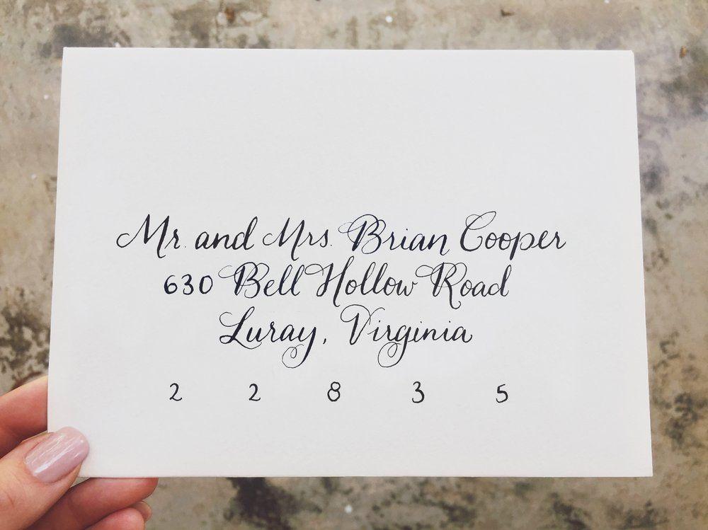 wedding invitation calligraphy   hand lettering   envelopes ...