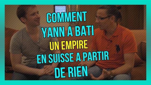 Comment Yann a bâti un EMPIRE en Suisse à partir de RIEN (14/365) : https://www.youtube.com/watch?v=UF-2oz5uhlQ&index=145&list=PLlNaq4hbeacRenu3pV65ir209cjP6CZph ;) #Yann #Réussir #Vie #Zéro #Rien