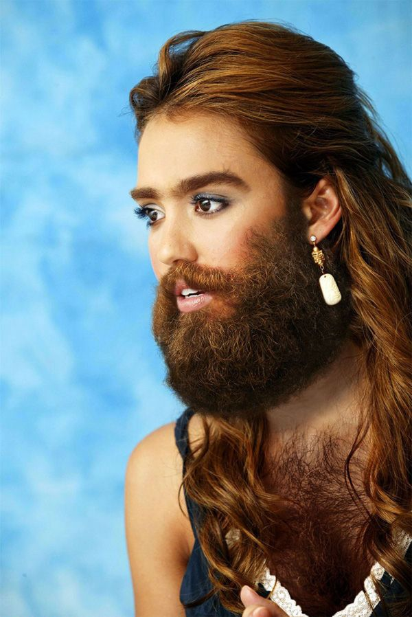 23 Female Celebrities With Beards Mens Hairstyles Pompadour Hottest Female Celebrities Bearded Lady