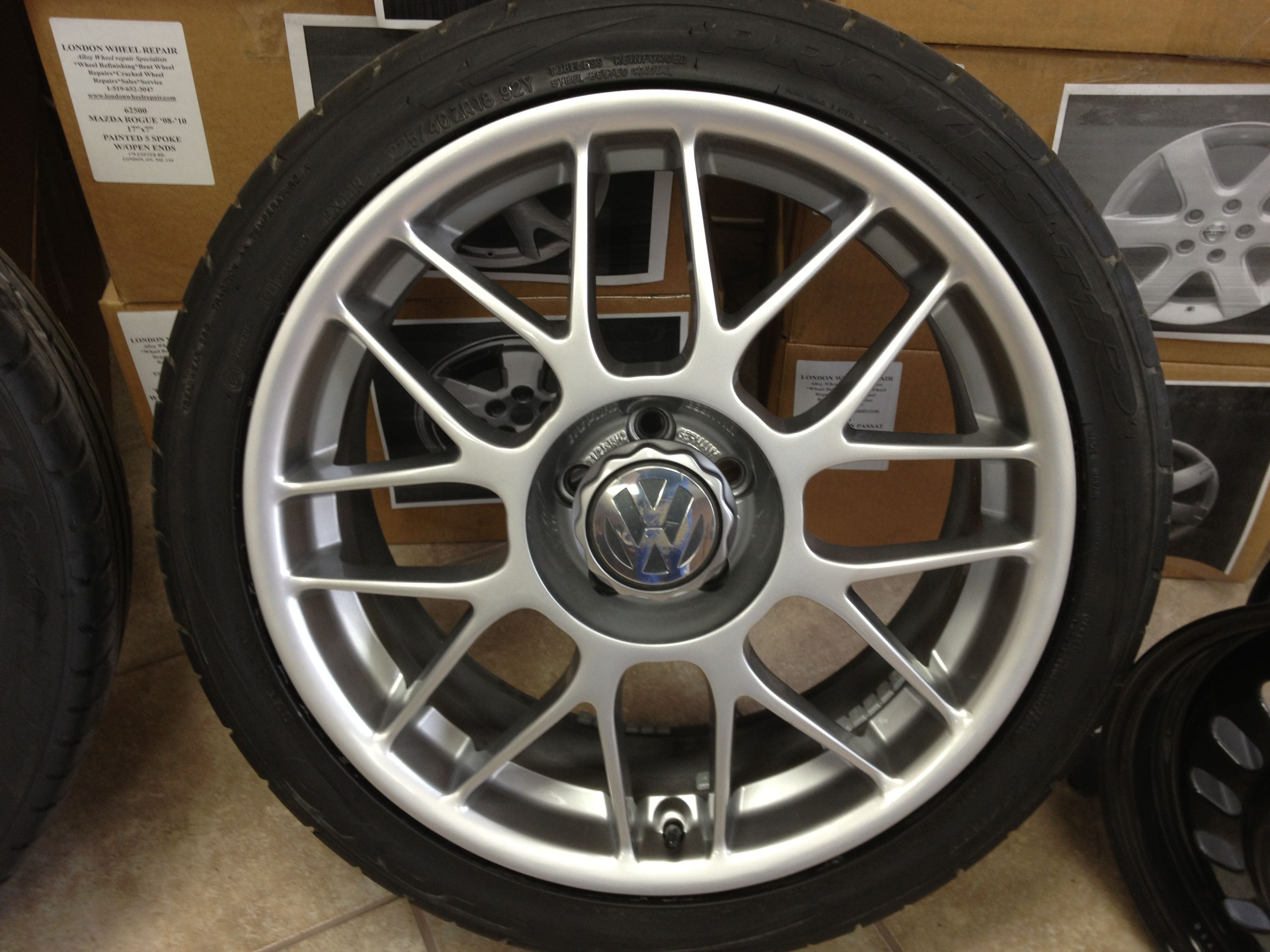 Vw Bbs Wheels After Being Painted Hyper Silver By London Wheel Repair