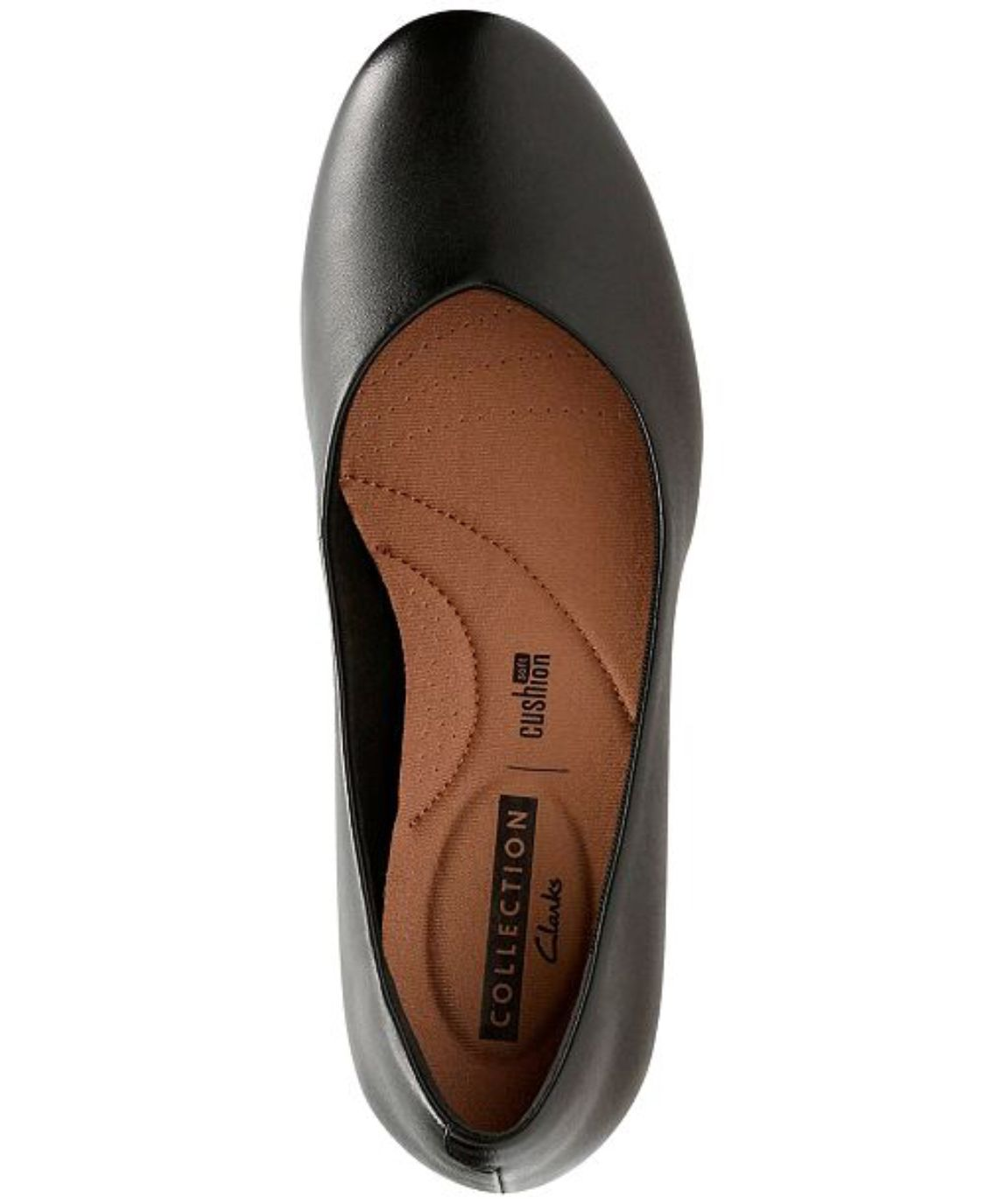 74295f75264c Clarks Flores Tulip Wedge Pump in Black Leather
