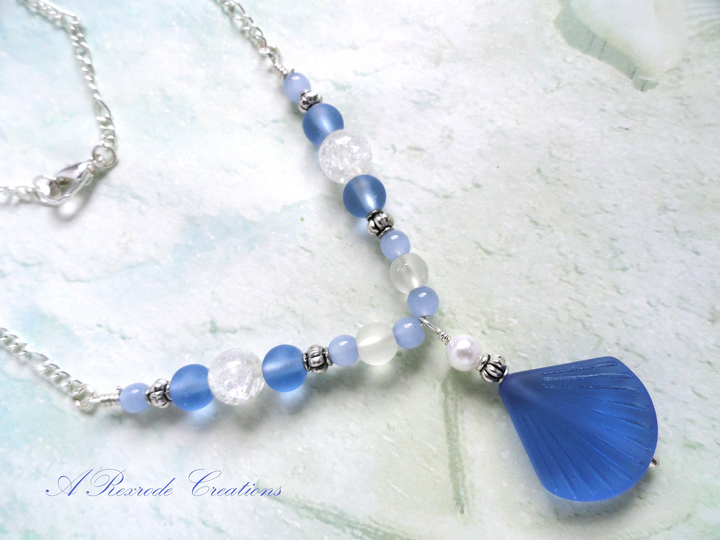 Beaded jewelry sea glass jewelry beach glass sea shell pendant beaded jewelry sea glass jewelry beach glass sea shell pendant necklace nautical summer fashion jewelry womens mozeypictures Image collections