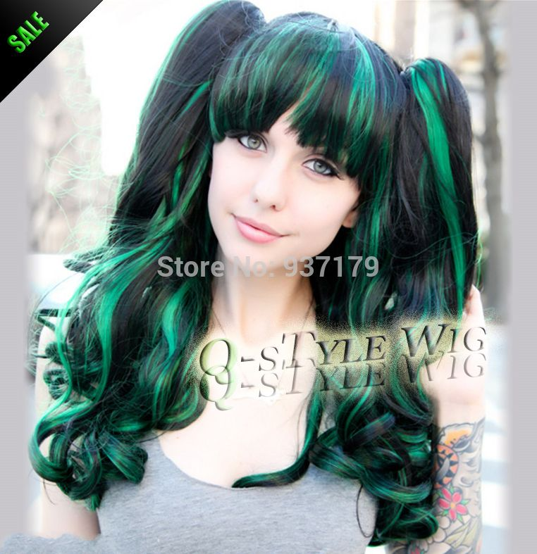 Black hair green highlights black hair green highlights black hair green highlights black hair green highlights promotion pmusecretfo Image collections