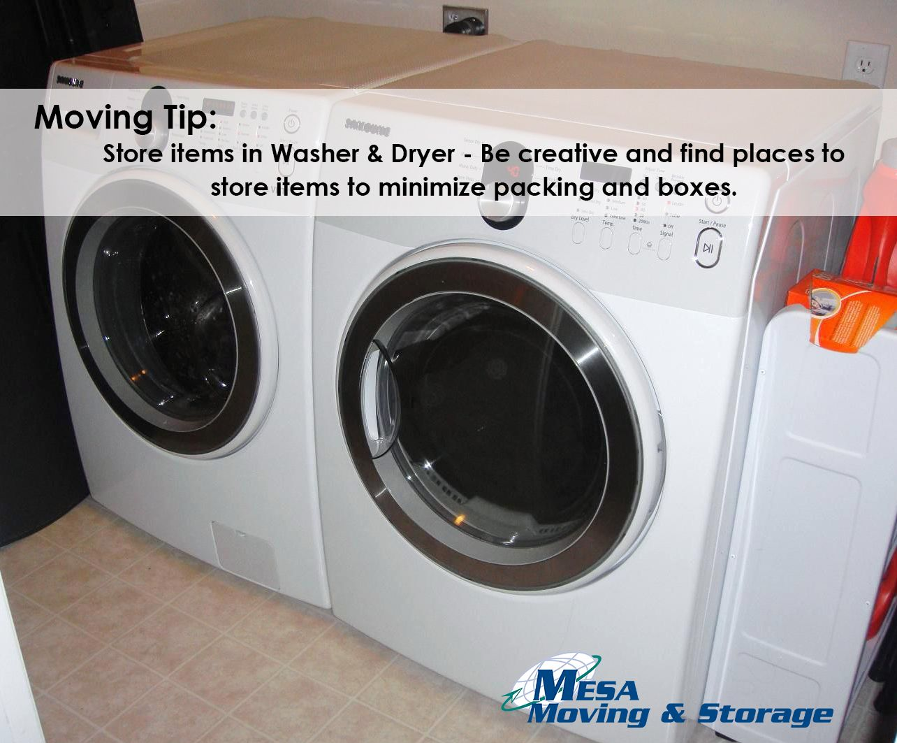 Moving Tip Store Clothes And Blankets In Washer And Dryer To Save