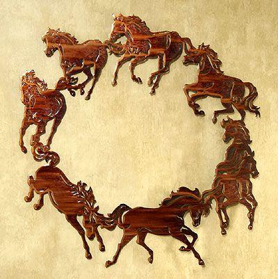 Circle of Horses Metal Wall Art   Western Wall Art   Pinterest ...