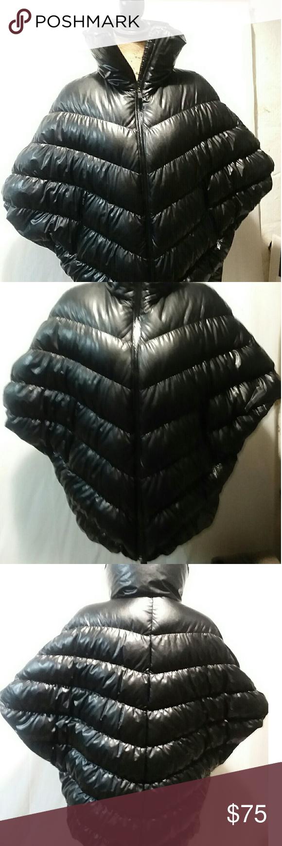 47a1c75c7a6b NIke XS Black Down Cascade Puffer Poncho Jacket Brand - NIKE Color - Black  Size -