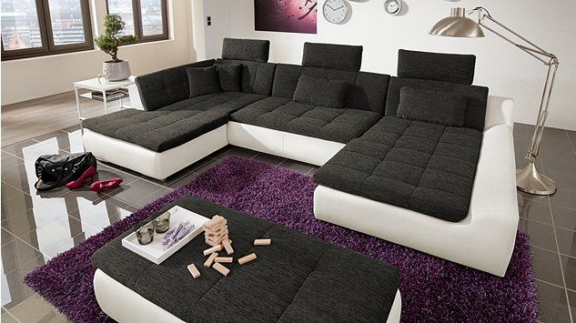 wohnlandschaft essen big sofa wohnzimmer living. Black Bedroom Furniture Sets. Home Design Ideas