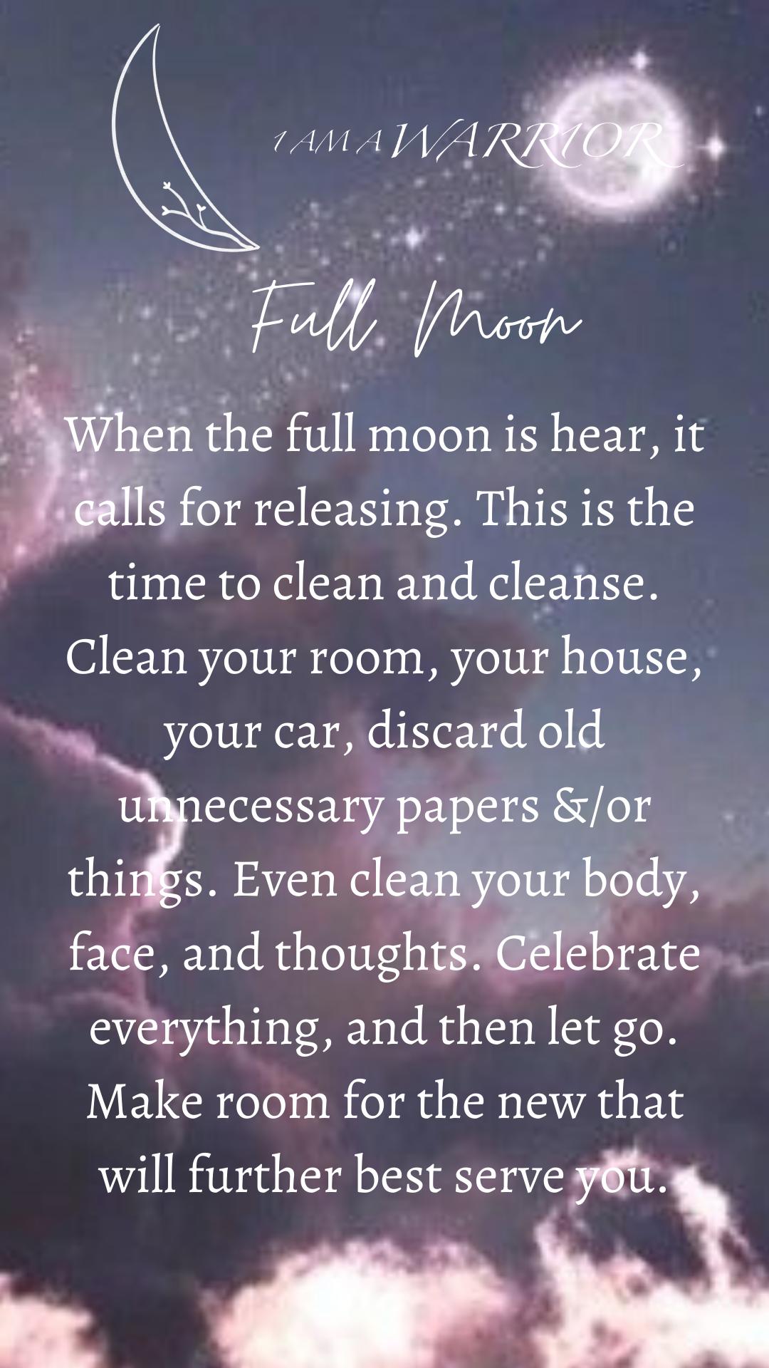 Full Moon Ritual In