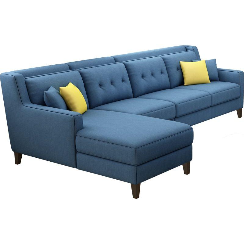 New Arrival American Style Simple Latest Design Sectional L Shaped Corner Living Room Furniture Fabric Sofa Set Prices Corner Sofa Design Sofa Design Sofa Set