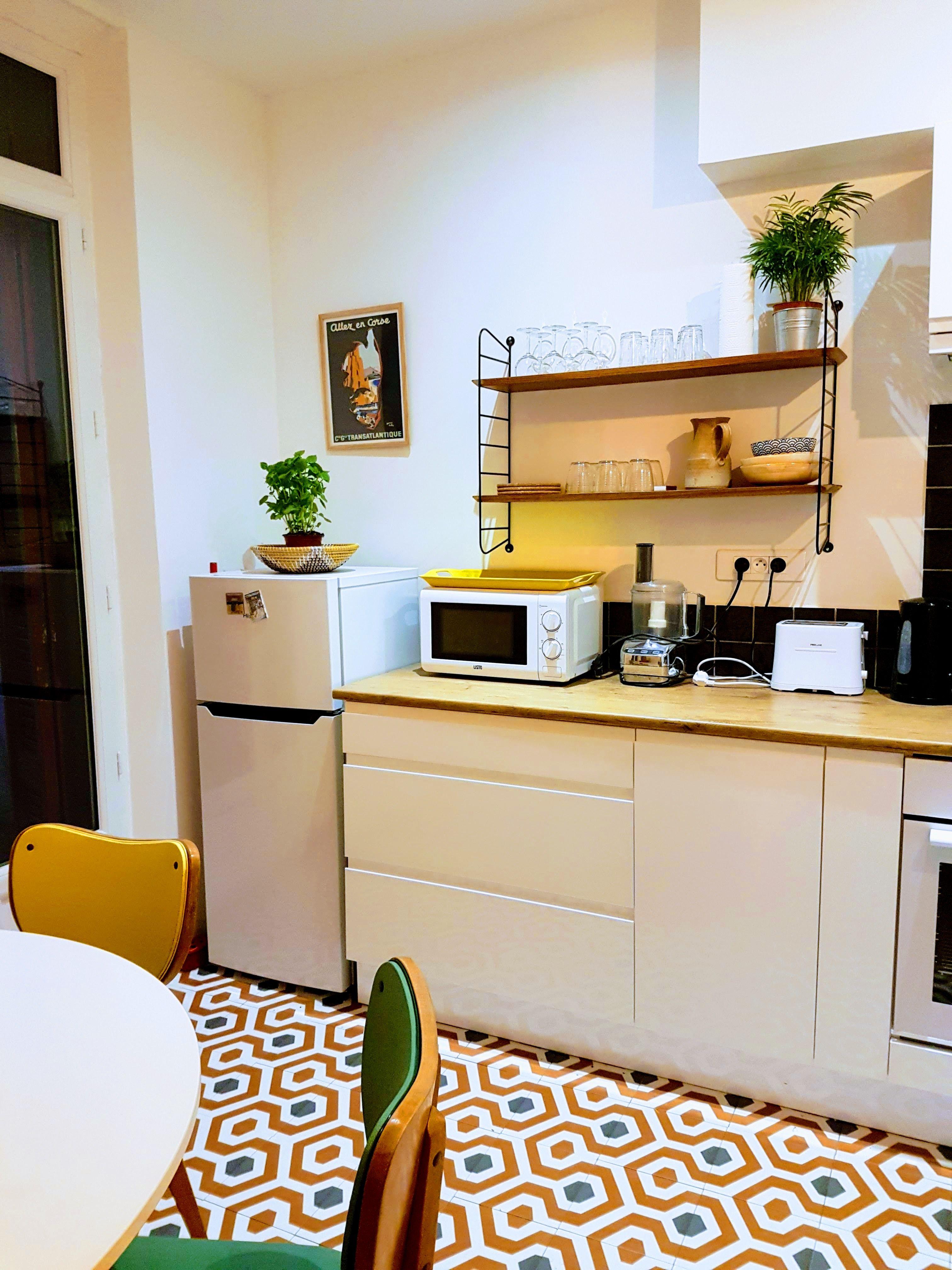 Cuisine brico dépôt mezzo , étagère et chaise 1960 « mon