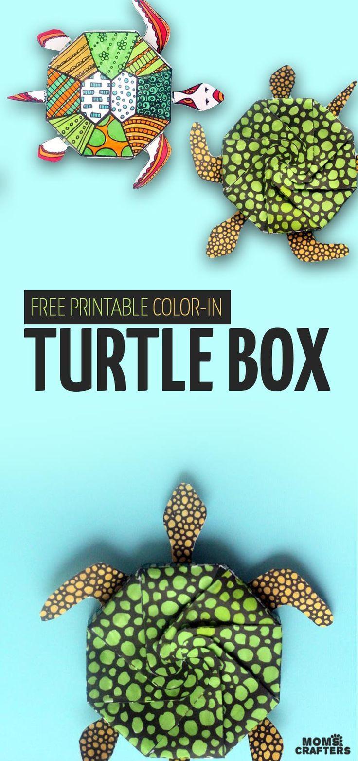 Free Printable Turtle box | Pinterest | Plástica, Bibliotecas y Arte