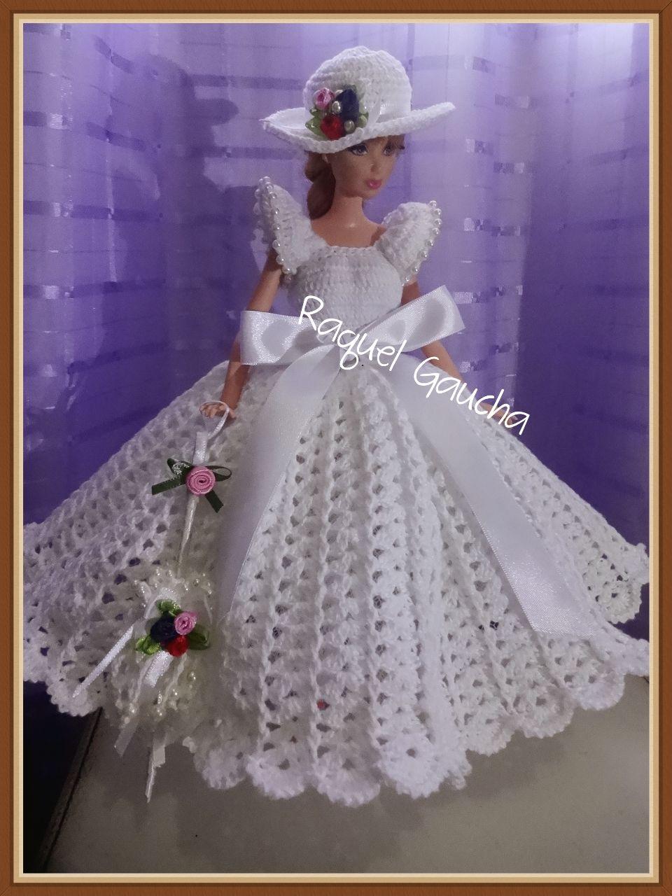 Cléa5 #Doll #Crochet #Vestido #Dress #Muñeca #Barbie #RaquelGaucha ...