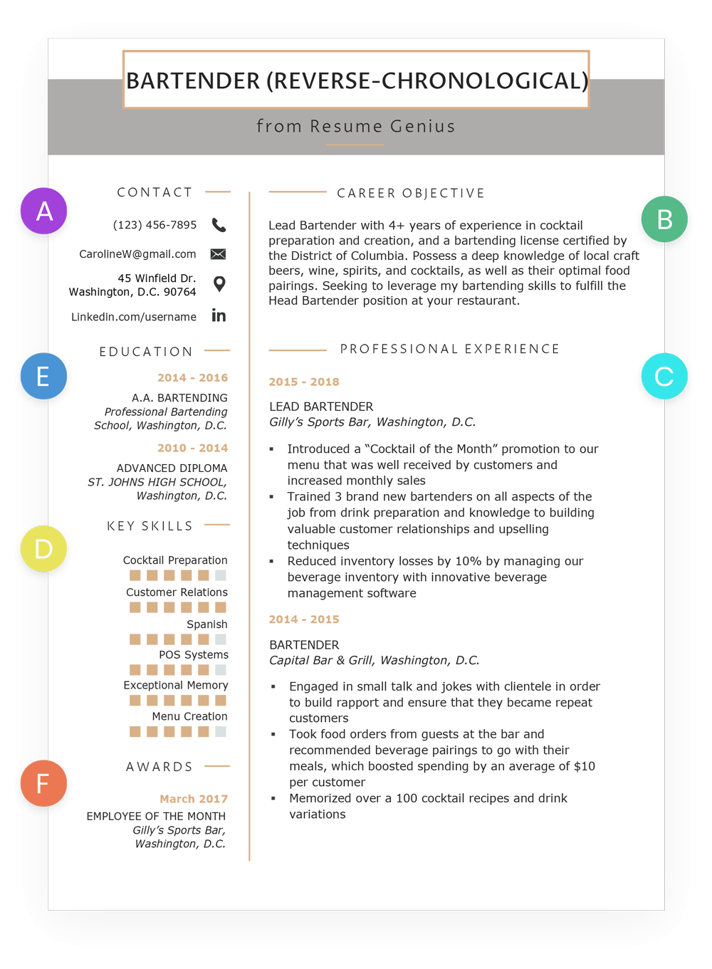 How To Write A Resume Reverse Chronological Format Example Chronological Resume Resume Examples Best Resume Format