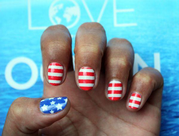 4th Of July Nail Art Nail Art Pinterest Hadanie 4 Jla A