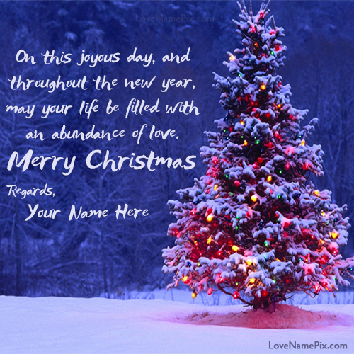 write any name on beautiful Merry Christmas Wishes Quotes