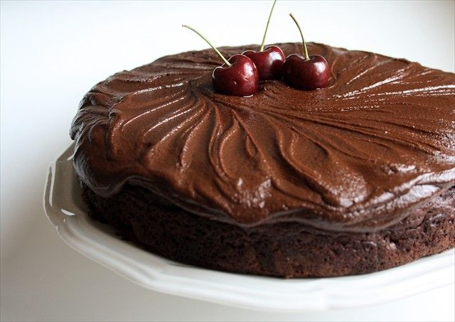 This cherry chocolate cake is not only incredibly simple to make, but it is absolutely delicious. Anyone you serve it to will want a second piece!