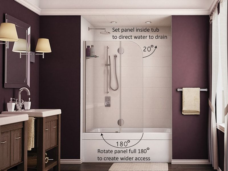 Shower Shield Frameless Door, Glass Shower Door Shield