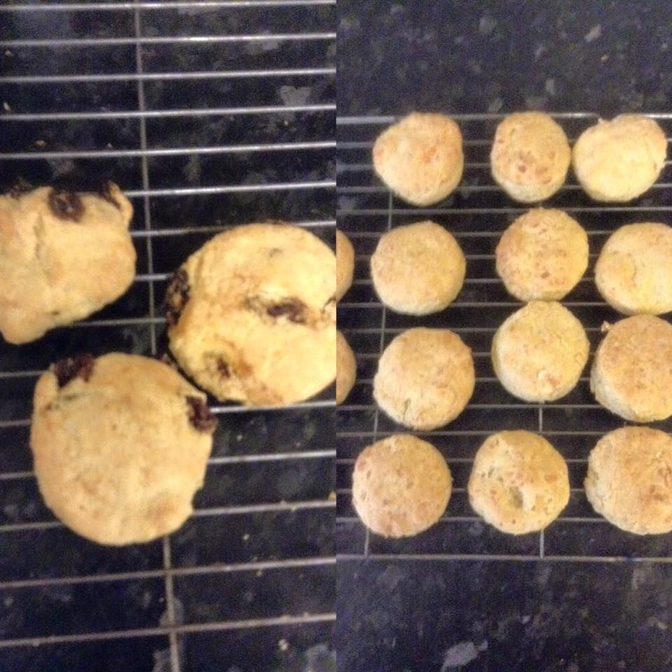 Fruit Scones 4 5 Syns Each Made 14 Ingredients 225g Self Raising Flour 70g Margarine Dairy And Soya Fruit Scones Cheese Scones Slimming World Desserts