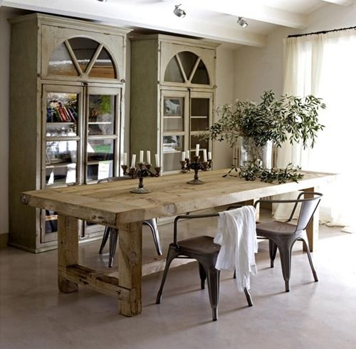 Simple Elegance Repurposed Wood Planking Dining Room Design