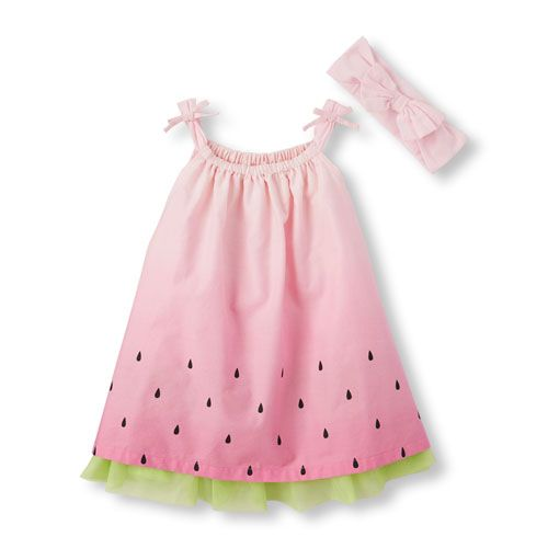 ee75b0add8989 Newborn Baby Sleeveless Tie-Strap Watermelon Dress And Headwrap Set ...
