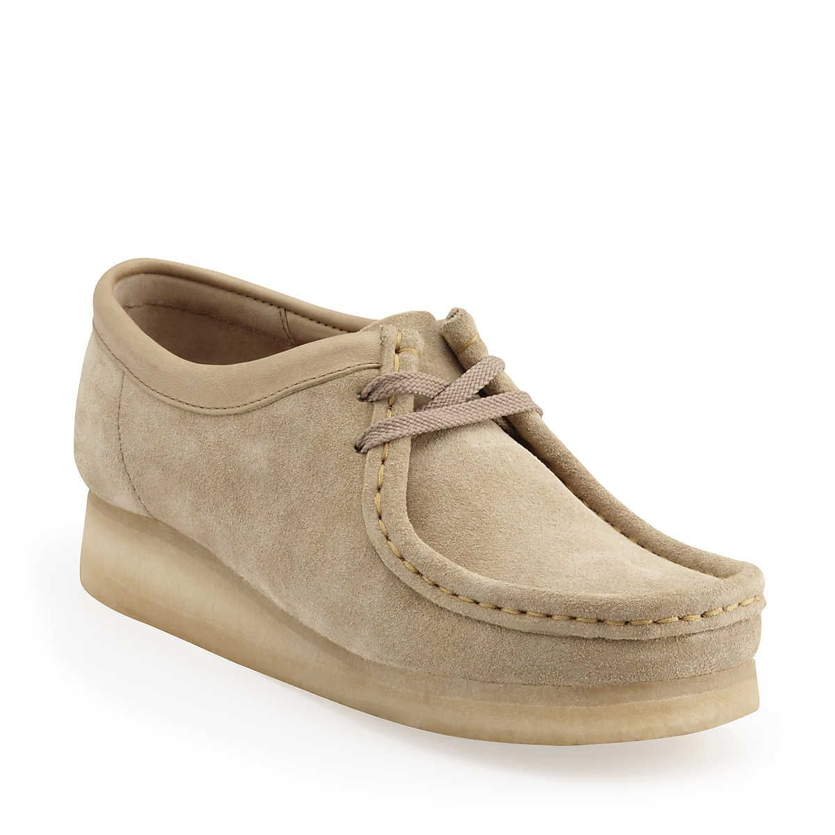bca6e41d9aa1f7 They re BAAAACCCKKK!!!! Such as blast from the past! Wallabee-Women in Sand  Suede - Womens Shoes from Clarks --