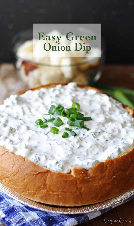 Easy Green Onion Dip Honey And Birch Green Onion Dip Recipe Onion Dip Recipe Yummy Appetizers