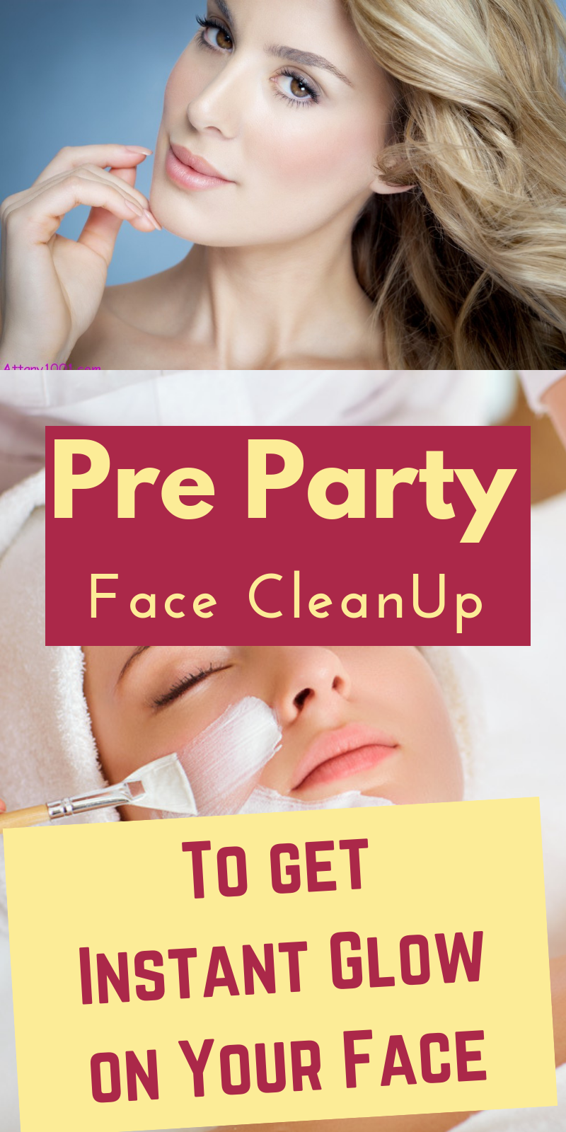 amazing face clean up that you must do before any party to get