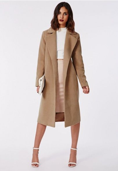 a2eaa8a61e21 Kimberley Premium Waterfall Wool Coat Camel - Coats   Jackets - Missguided