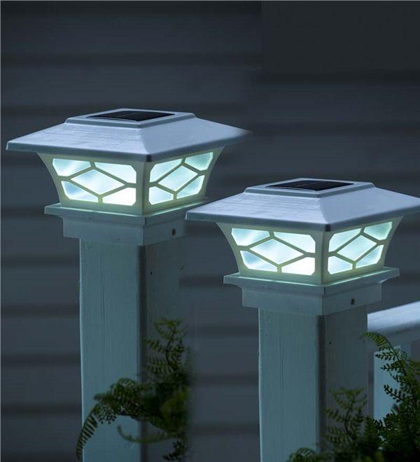 Main image for Classic Solar Post Cap Lights, Set of 2 | Deck/Porch ...