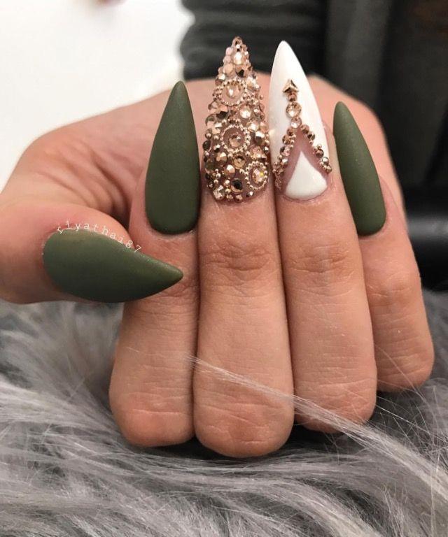 Green golf combo | Uñas | Pinterest | Diseños de uñas, Diseños para ...
