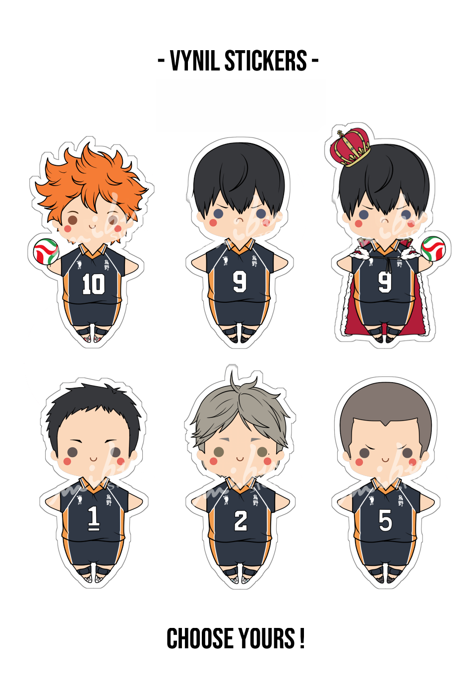 Haikyuu Vinyl Stickers In 2020 Cute Stickers Anime Stickers Haikyuu