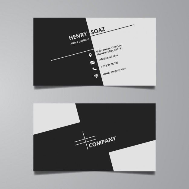 business card template ppt