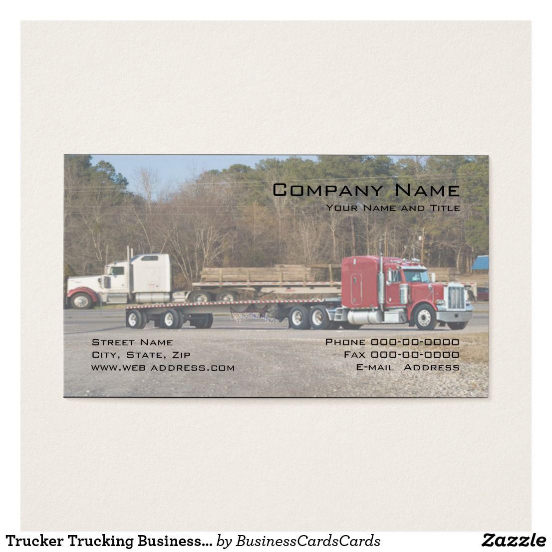 Trucker Trucking Business Card | Pinterest | Business cards and Business