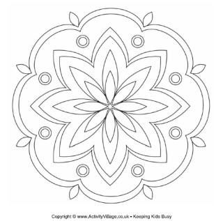 rangoli coloring pages for diwali pictures | Diwali Craft - Rangoli Colouring Pages | Diwali Activities ...
