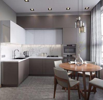 27 Modern Kitchen Interior Design That You Have to Try | ARA HOME #kitchendesign #kitchenideas #modernkitchen #greykitcheninterior