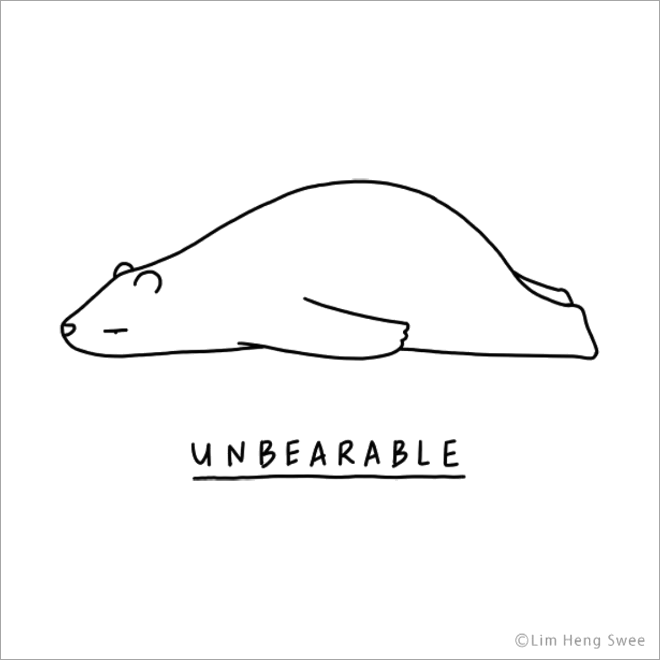 Latest Funny Illustration Punny Illustrations of Moody Animals Unbearable. 1