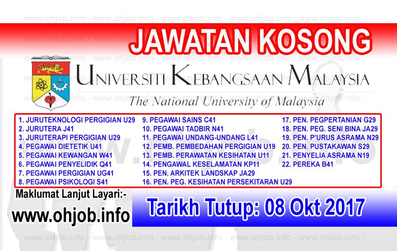Jawatan Kosong UKM Universiti Kebangsaan Malaysia (08