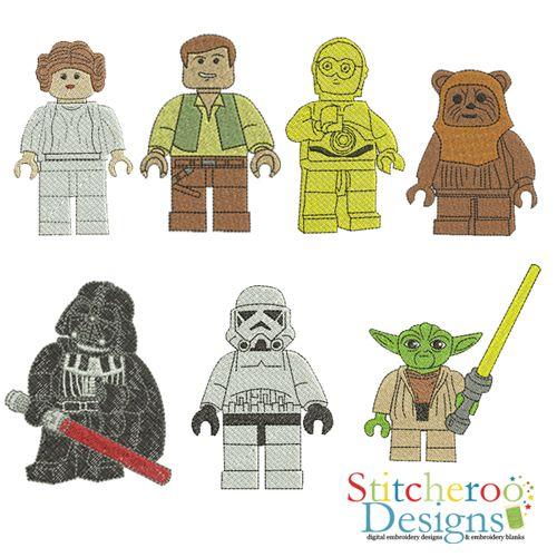 Lego Star Wars Filled Set Embroidery Design Star Wars