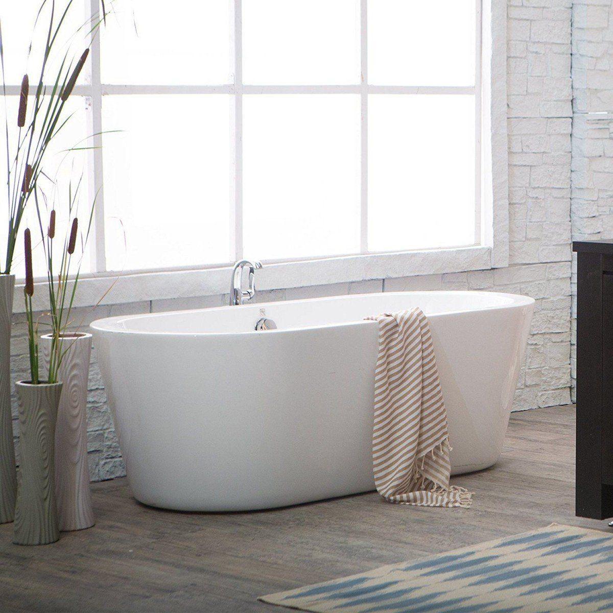 Mermaid Acrylic Double Ended Freestanding Bathtub No Faucet