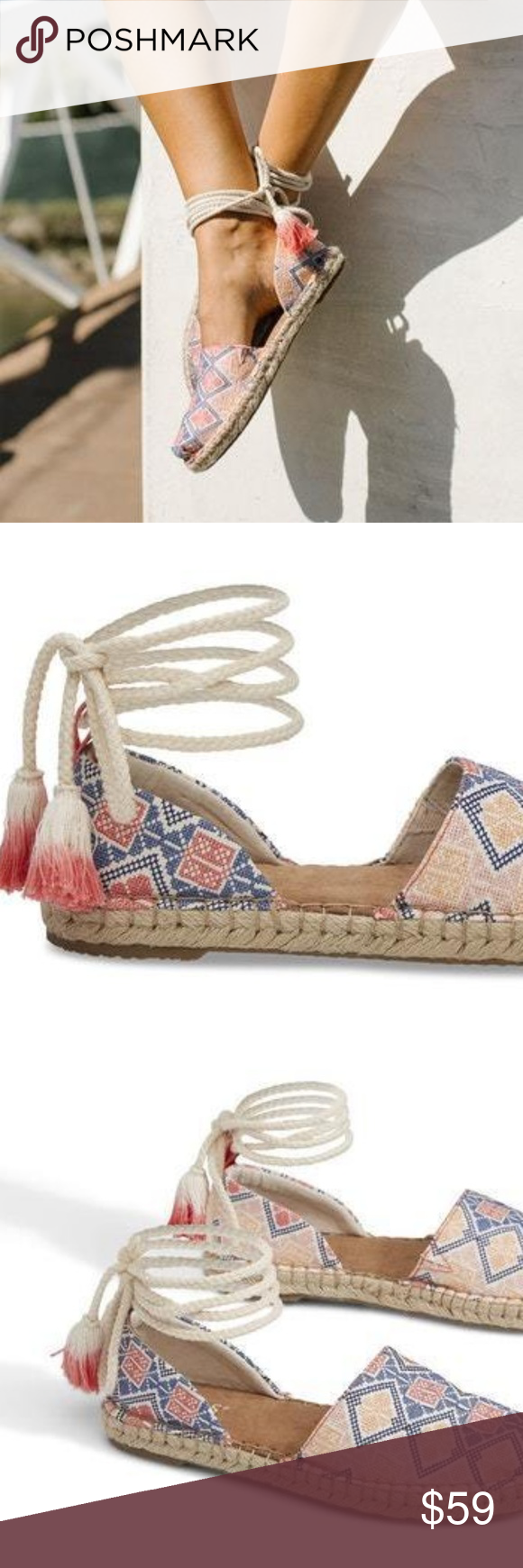 b6864257efb TOMS GEO EMBROIDERED WOMEN S KATALINA ESPADRILLES French Riviera is the  vacation that comes to mind when