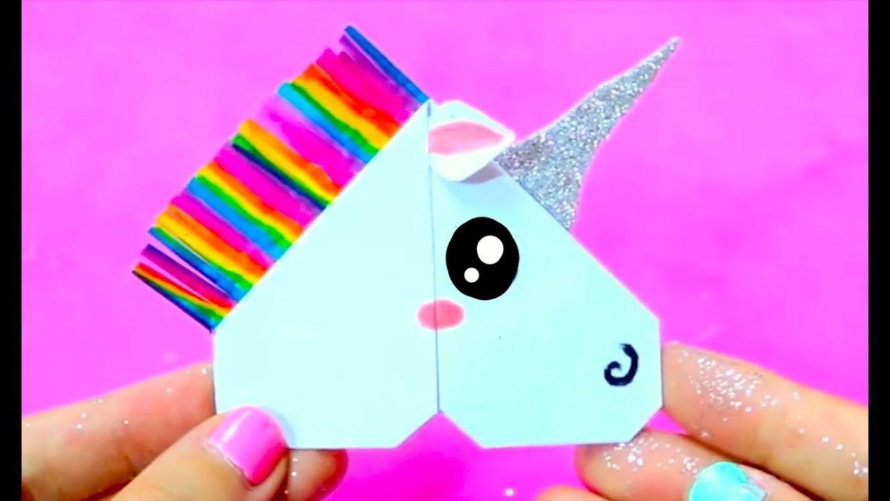 Diy Unicorn Corner Bookmark Easy Cute School Supplies