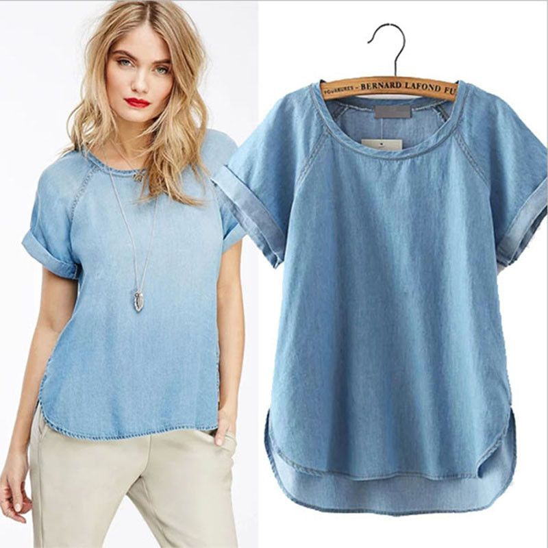 Blue Plus Size Blouse | Zhenzi | Bluser | Miinto.no