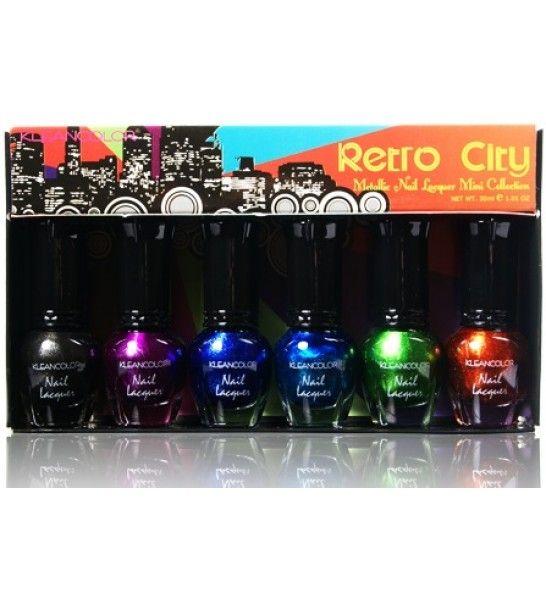 Kleancolor Retro City - Metallic Nail Lacquer Mini Collection | Make ...