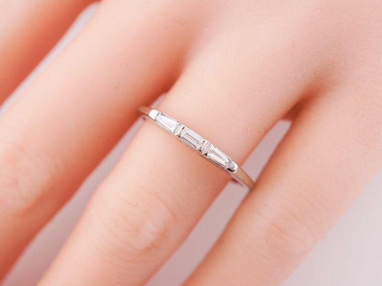 Antique Wedding Band Art Deco .26cttw Baguette Cut Diamonds in ...