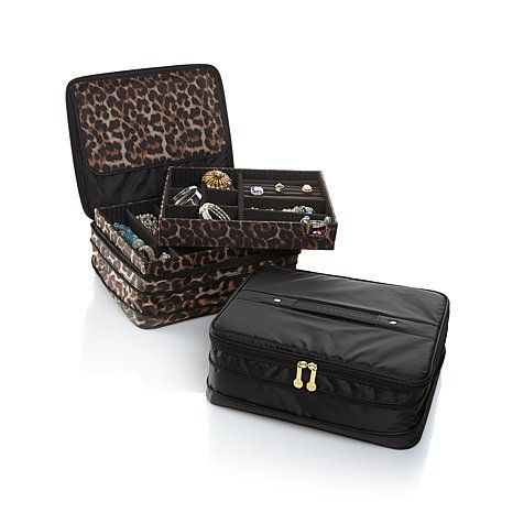 Joy Mangano Jewel Kit Duo 2Tier Jewelry Boxes Travel Jewelry and