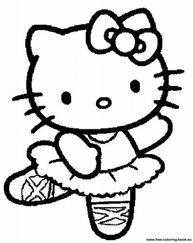 Printable Hello Kitty Coloring Pages Free Printable Hello Kitty - Hello-kitty-free-coloring-pages