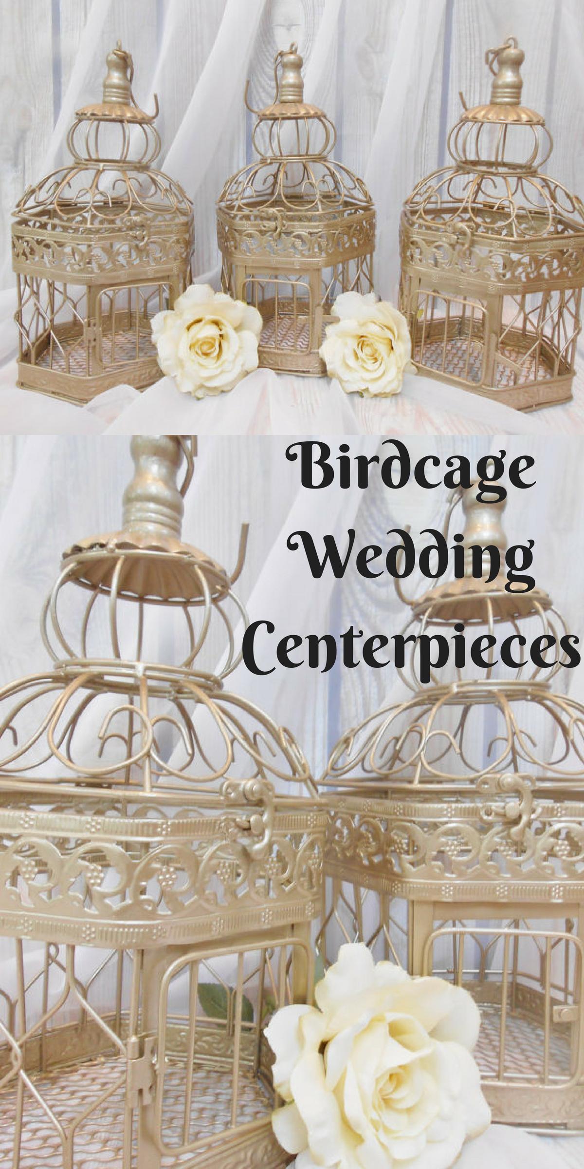 FIVE Wedding Centerpieces   Birdcage Centerpieces   Wedding Center ...