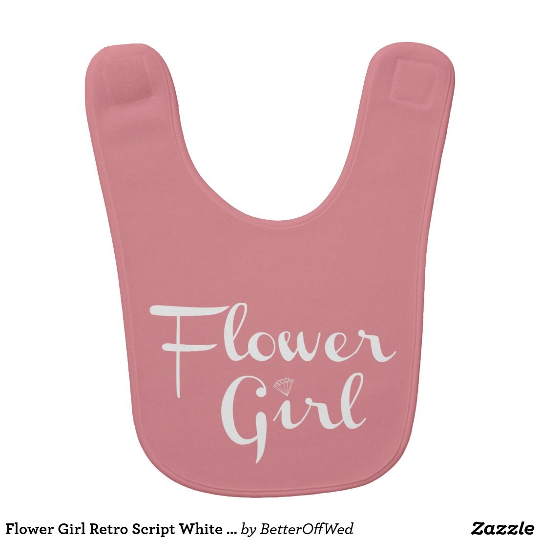 Flower Girl Embroidered Baby Bib Gift Personalised Wedding