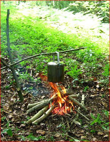 romantic camping notions of boiling a billy... Like this ...